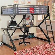 Drew Full Workstation Loft Bed with Desk