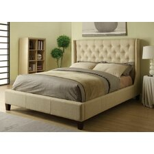 Upholstered Wingback Bed