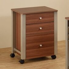 Carmen 3-Drawer Mobile File Cart