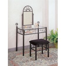 Sunburst Vanity Set with Mirror