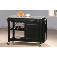Cottonwood Kitchen Cart with Granite Top