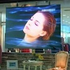 "Rear Projection 123"" Adhesive Projection Screen"