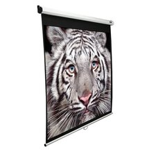 "Slow Retracting Manual Pull Down Projector Screen - 1:1 Format 113"" Diagonal"