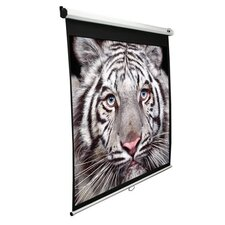 "<strong>Elite Screens</strong> Slow Retracting Manual Pull Down Projector Screen - 4:3 Format 100"" Diagonal"