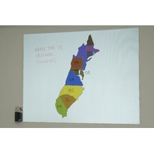 "Insta-DE Series Dry Erase White Board and Projection Screen - 16:9 Format 102"" Diagonal"