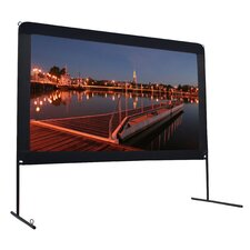 Do-It-Yourself Place Anywhere Portable Outdoor Projection Screen