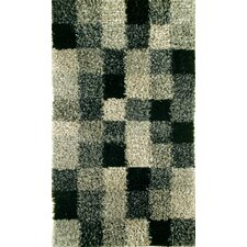 Madrian Grey Shag Area Rug