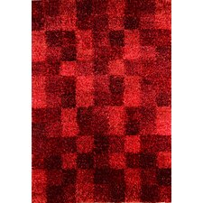 Madrian Wine Shag Area Rug