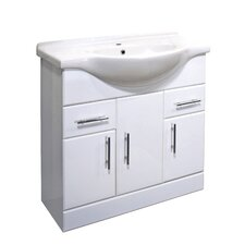 Porto 85cm Basin Unit in White