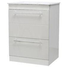Turin 60cm Basin Unit in White