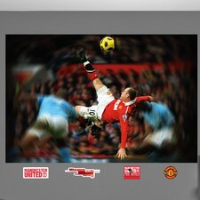Wayne Rooney Bicycle Kick Wall Mural