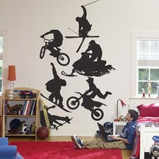<strong>Fathead</strong> Assorted Action Sports Silhouettes Wall Graphic