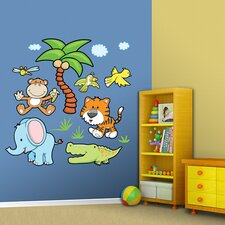 Jungle Animals Group Two Wall Decal