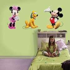 Mickey, Minnie and Pluto Wall Graphic