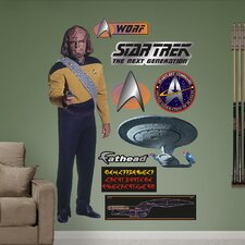 <strong>Fathead</strong> Star Trek Lieutenant Worf Wall Decal