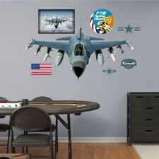 Military F-16 Fighting Falcon Wall Graphic
