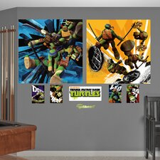 Teenage Mutant Ninja Turtles Dual Action Wall Mural