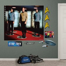 Star Trek The Original Series Crew Wall Mural
