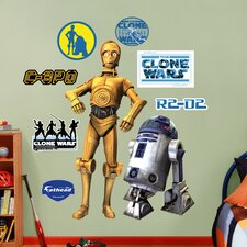 <strong>Fathead</strong> Star Wars C-3PO & R2-D2 Wall Decal