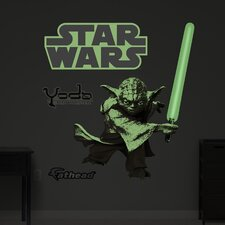 Star Wars Yoda Glow in the Dark Wall Decal