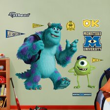 Disney Monsters University Mike & Sulley Wall Decal