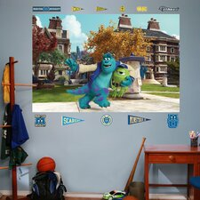 Disney Monsters University Mike & Sulley Campus Wall Mural