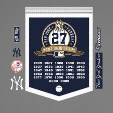 <strong>Fathead</strong> MLB New York Yankees World Series Championship Banner Wall Decal