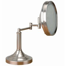 "Vogue 13.5"" H x 11"" W Make Up Mirror and Table Lamp"