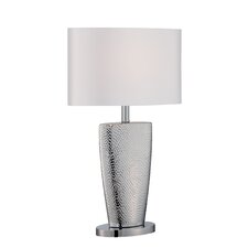 "Ellette 23.5"" H Table Lamp with Drum Shade"