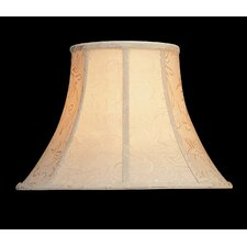 Woven Jacquard Lamp Shade in Creme