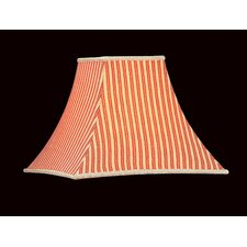 Printed Stripes Lamp Shade in Red and Gold