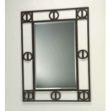 Etruscan Framed Mirror in Dark Rust