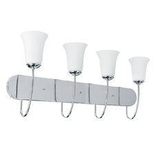 Dover 4 Light Vanity Light with Glass Shade