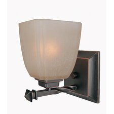 1 Light Champagne Wall Sconce