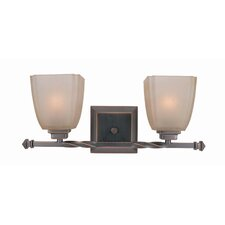 2 Light Champagne Vanity Light