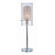 "Torchiere 21"" H Table Lamp with Drum Shade"