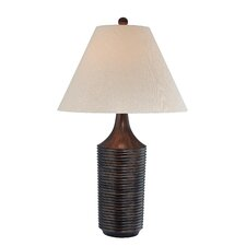 "Ostry Parson 29"" H Table Lamp with Bell Shade"