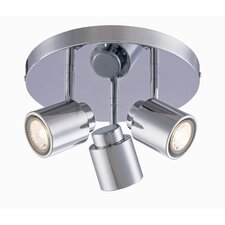 "<strong>Lite Source</strong> Oksana 5.75"" x 10.75""  Spot Light in Chrome"