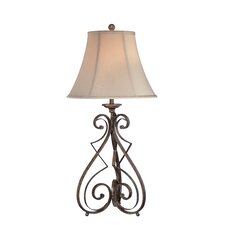 "Gibson 33"" H 1 Light Table Lamp with Bell Shade"
