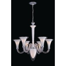 <strong>Lite Source</strong> Perlita 6 Light Chandelier