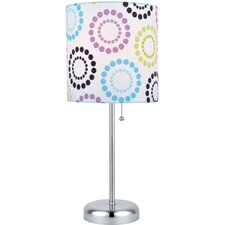"""Chrina 19.5"""" H Table Lamp with Drum Shade"""