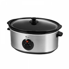 6.5L Slow Cooker in Stainless Steel