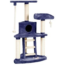 "51"" Tri-Level Entertainment Center Cat Tree"