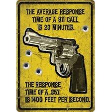 Average Response Time Tin Sign Wall Art