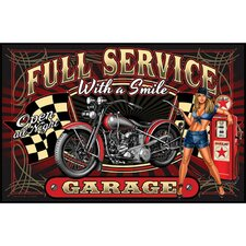 Full Service Motorcycle Door Mat