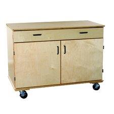 Classroom Select Adjustable Large Mobile Shelf Storage Unit with 1 Drawer