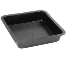 26cm Non Stick Square Metal Bake Tin in Black