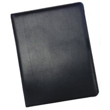 "12.5"" Business Card Holder in Black  Leather Binder"
