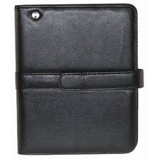 Faux Leather Easel iPad Case in Black