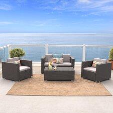 Murano 4 Piece Deep Seating Group with Cushions